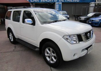 2010 Pathfinder TI AUTO 4×4 turbo diesel 7 seat wagon top of the line, leather seats, dvd player, a great family vehicle