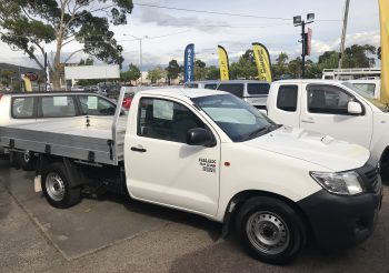 2013 Toyota Hilux 3.0lt turbo diesel cab chassis with alloy tray. Great workhorse and very rare. Built tough!