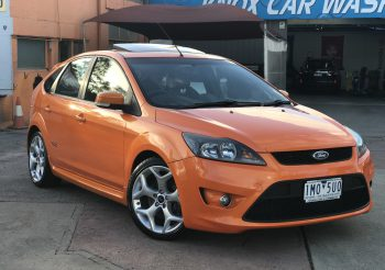 Ford LV Focus XR5 turbo hatchback in Electric Orange duco with Recaro leather interior!! All standard and a real head turner!